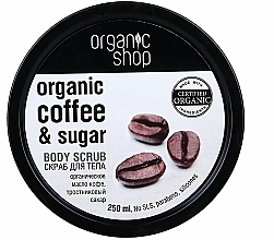 "Parfüm, Parfüméria, kozmetikum Testradír ""Brazil kávé"" - Organic Shop Body Scrub Organic Coffee & Sugar"
