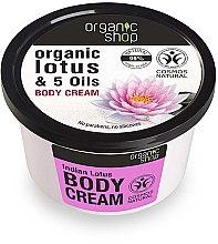"""Parfüm, Parfüméria, kozmetikum """"Indiai lótusz"""" testkrém - Organic Shop Body Cream Organic Lotus & Oils"""