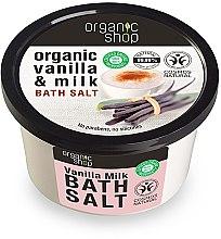 """Parfüm, Parfüméria, kozmetikum Fürdősó """"Vanília tej"""" - Organic Shop Baths Salt Organic Vanilla & Milk"""