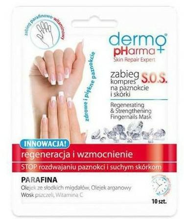 Köröm regeneráló pakolás - Dermo Pharma Skin Repair Expert S.O.S. Regenerating& Strengthening Fingernails Mask