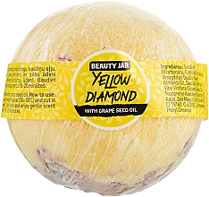 "Parfüm, Parfüméria, kozmetikum Fürdőbomba ""Yellow Diamond"" - Beauty Jar With Grape Seed Oil Natural Bath Bomb"