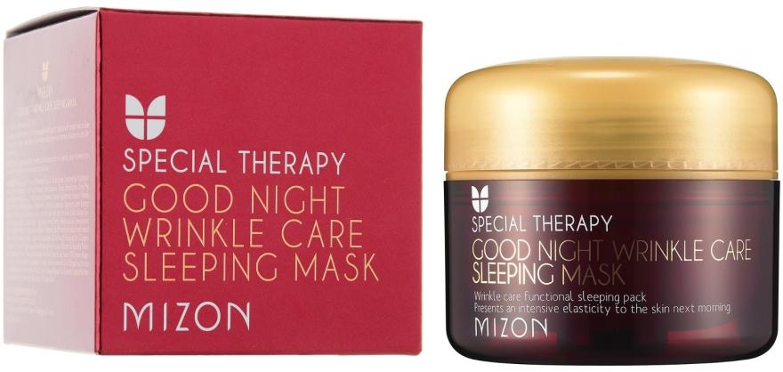 Retinolos tápláló éjszakai arcmaszk ráncok ellen - Mizon Good Night Wrinkle Care Sleeping Mask