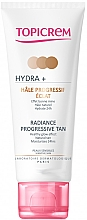 Parfüm, Parfüméria, kozmetikum Önbarnító krém arcra és nyakra - Topicrem Hydra+ Radiance Progressive Tan