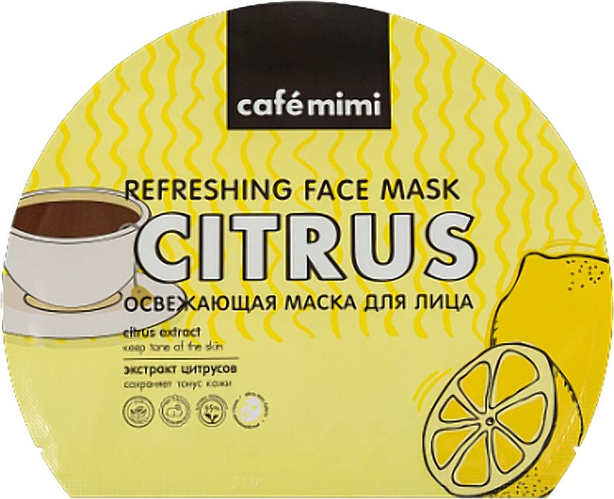 Élénkítő szövetmaszk - Cafe Mimi Refreshing Face Mask Citrus