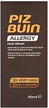 Parfüm, Parfüméria, kozmetikum Napvédő krém arcra - Piz Buin Allergy Face Cream SPF50