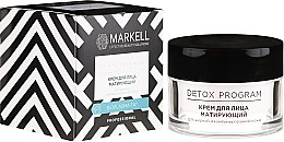 Parfüm, Parfüméria, kozmetikum Mattító arckrém zsíros és kombinált bőrre - Markell Cosmetics Detox Program Face Cream