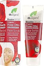 """Parfüm, Parfüméria, kozmetikum Arcradír """"Bio Rózsa"""" - Dr. Organic Bioactive Skincare Rose Otto Face Scrub"""