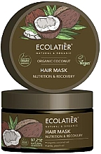 """Parfüm, Parfüméria, kozmetikum Hajmaszk """"Táplálás és helyreállítás"""" - Ecolatier Organic Coconut Hair Mask"""