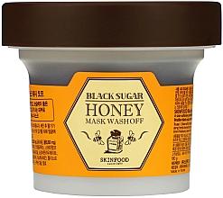 Parfüm, Parfüméria, kozmetikum Maszk mézzel és fekete cukorral - SkinFood Black Sugar Honey Mask Wash Off