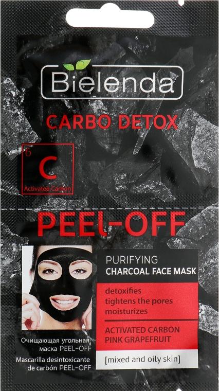 Arctisztító maszk szénnel - Bielenda Carbo Detox Peel-Off Purifying Charcoal Mask