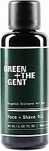 Parfüm, Parfüméria, kozmetikum Borotva hab - Green + The Gent Face + Shave Oil