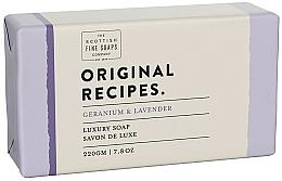 "Parfüm, Parfüméria, kozmetikum Szappan ""Muskátli és levendula"" - Scottish Fine Soaps Original Recipes Geranium & Lavender Luxury Soap Bar"