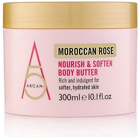 "Testvaj ""Marokkói rózsa"" - Argan+ Moroccan Rose Nourish & Soften Body Butter"
