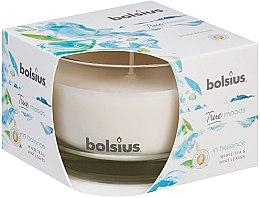 """Parfüm, Parfüméria, kozmetikum Illatgyertya pohárban """"Fehér tea és menta levelek"""", 63/90 mm - Bolsius True Moods Candle"""