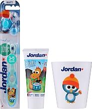 "Parfüm, Parfüméria, kozmetikum Készlet ""Sárkány"" - Jordan Kids (toothpaste/50ml + toothbrush/1pc + cup)"