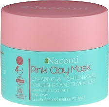 Parfüm, Parfüméria, kozmetikum Maszk rózsaszín agyag kivonattal - Nacomi Pink Clay Mask