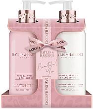 Parfüm, Parfüméria, kozmetikum Szett - Baylis & Harding Jojoba, Vanilla & Almond Oil (h/wash/300ml + h/b/lot/300ml)