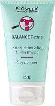 Parfüm, Parfüméria, kozmetikum Arctisztító agyag - Floslek Balance T-zone Instant Detox 2in1 Clay Cleanser