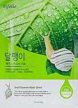 "Parfüm, Parfüméria, kozmetikum Anyagmaszk ""Csiga szüret"" - Esfolio Snail Essence Mask Sheet"