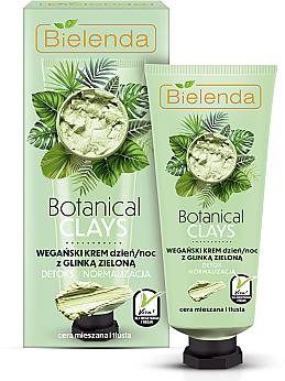 Arckrém zöld agyaggal - Bielenda Botanical Clays Vegan Day Night Cream Green Clay
