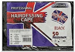 Parfüm, Parfüméria, kozmetikum Eldobható fodrászköppeny fekete fóliából - Ronney Professional Hairdressing Cape