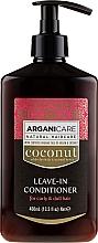 Parfüm, Parfüméria, kozmetikum Öblítést nem igénylő kondicionáló hullámos és száraz hajra - Arganicare Coconut Leave-In Conditioner For Curly & Dull Hair