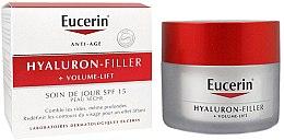 Parfüm, Parfüméria, kozmetikum Nappali krém száraz bőrre - Eucerin Hyaluron-Filler+Volume-Lift Day Cream SPF15