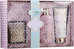 Parfüm, Parfüméria, kozmetikum Szett - Baylis & Harding Pink Prosecco & Elderflower (sh/gel/300ml + b/lot/200ml + candle/200g)
