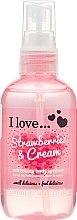 Parfüm, Parfüméria, kozmetikum Frissítő testpermet - I Love... Strawberries & Cream Body Spritzer