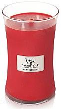 Parfüm, Parfüméria, kozmetikum Illatgyertya pohárban - WoodWick Hourglass Candle Crimson Berries