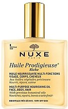 Parfüm, Parfüméria, kozmetikum Tápláló szárazolaj nagyon száraz bőrre - Nuxe Huile Prodigieuse Riche Multi-Purpose Oil (teszter)