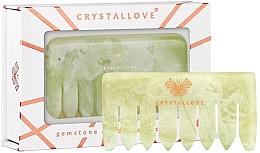Parfüm, Parfüméria, kozmetikum Fejbőr masszírozó fésű nefrittel - Crystallove