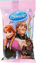 """Parfüm, Parfüméria, kozmetikum Nedves törlőkendő """"Frozen"""", 15db, Anna és Kristof - Smile Ukraine Disney"""