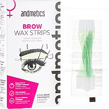 Parfüm, Parfüméria, kozmetikum Szemöldökformázó gyantacsík - Andmetics Women's Brow Wax Strips