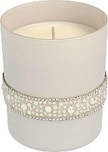 Parfüm, Parfüméria, kozmetikum Illatosított gyertya 8x9,5 cm, szürke - Artman Crystal Glass Pearl