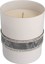 Parfüm, Parfüméria, kozmetikum Illatgyertya fekete-szürke, 8x9,5cm - Artman Crystal Glass