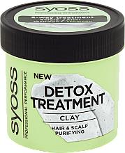 Parfüm, Parfüméria, kozmetikum Detoxikáló hajmaszk agyaggal - Syoss Detox Treatment Clay