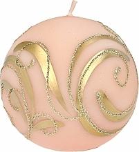 Parfüm, Parfüméria, kozmetikum Dekoratív gyertya, gömb, rózsaszín, 10 cm - Artman Christmas Ornament