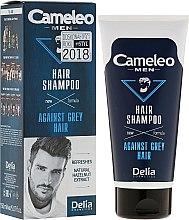 Parfüm, Parfüméria, kozmetikum Színező sampon ősz hajra férfiaknak - Delia Cameleo Men Against Grey Hair Shampoo
