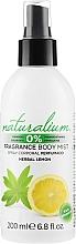 Parfüm, Parfüméria, kozmetikum Test spray - Naturalium Herbal Lemon Body Mist