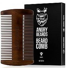 Parfüm, Parfüméria, kozmetikum Fából készült szakáll fésű - Angry Beards Beard Comb
