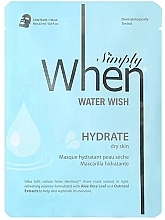 Parfüm, Parfüméria, kozmetikum Hidratáló szövetmaszk száraz bőrre - When Simply Water Wish