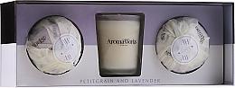 Parfüm, Parfüméria, kozmetikum Szett - AromaWorks Light Range Petitgrain & Lavender & Mini Aromabomb Gift Set (candle/10ml+2xbomb/175g)