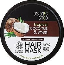 Parfüm, Parfüméria, kozmetikum Hajmaszk - Organic Shop Coconut & Shea Moisturising Hair Mask