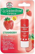 Parfüm, Parfüméria, kozmetikum Ajakápoló balzsam - Golden Rose Lip Balm Strawberry SPF15