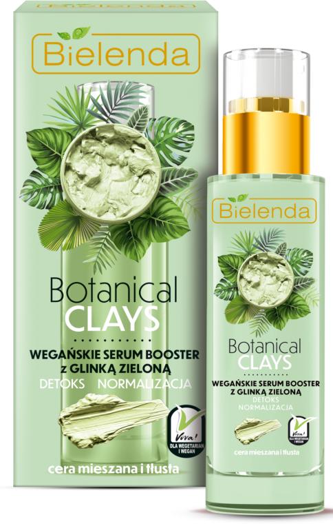Booster-szérum arcra zöld agyaggal - Bielenda Botanical Clays Vegan Serum Booster Green Clay
