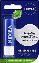"Parfüm, Parfüméria, kozmetikum Ajakápoló balzsam ""Alap ápolás"" - Nivea Original Care 24H Lip Balm"