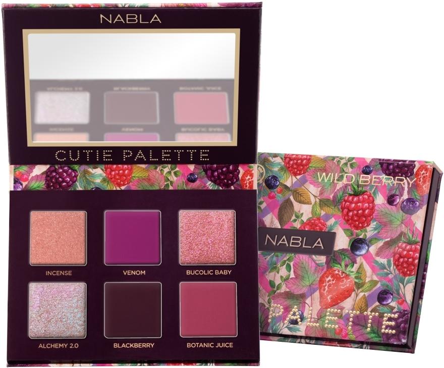Szemhéjfesték paletta - Nabla Cutie Collection Palette Wild Berry