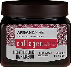Parfüm, Parfüméria, kozmetikum Hajmaszk kollagénnel - Arganicare Collagen Reconstructuring Hair Masque
