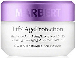 Parfüm, Parfüméria, kozmetikum Feszesítő nappali arckrém - Marbert Lift4Age Protection Firming Anti-Aging Day Care SPF 15